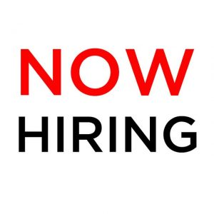 Now Hiring Text. Linked to First Priority Credit Union Page
